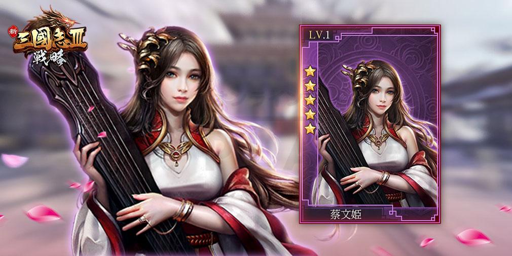 新三國志III(新三國志3) キャラクター『蔡文姫』紹介イメージ