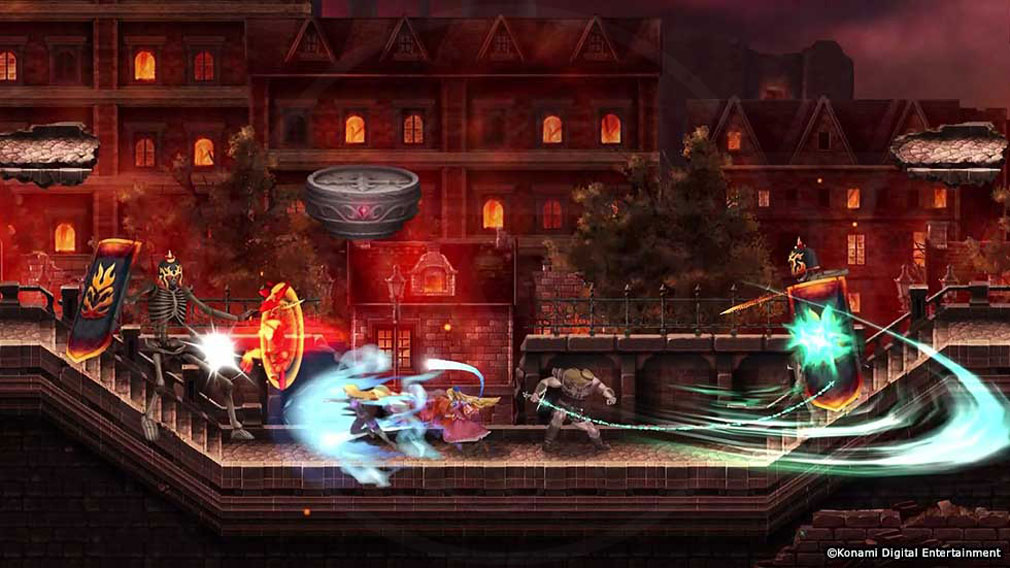 悪魔城ドラキュラ Grimoire of Souls(ドラキュラGoS) シリーズ歴代のキャラクターが登場し多彩なバトルが繰り広げられるスクリーンショット