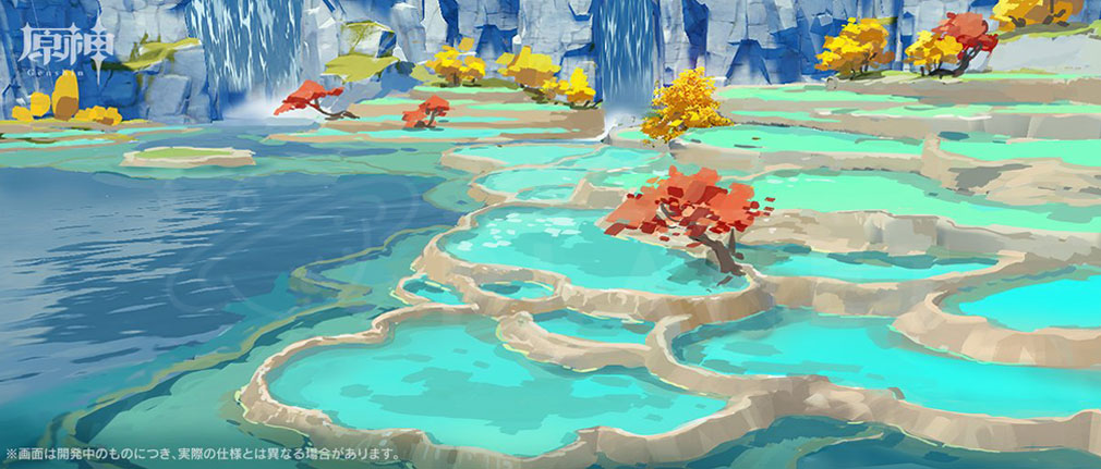 原神(げんしん) 璃月の水『綠華池』景観紹介イメージ