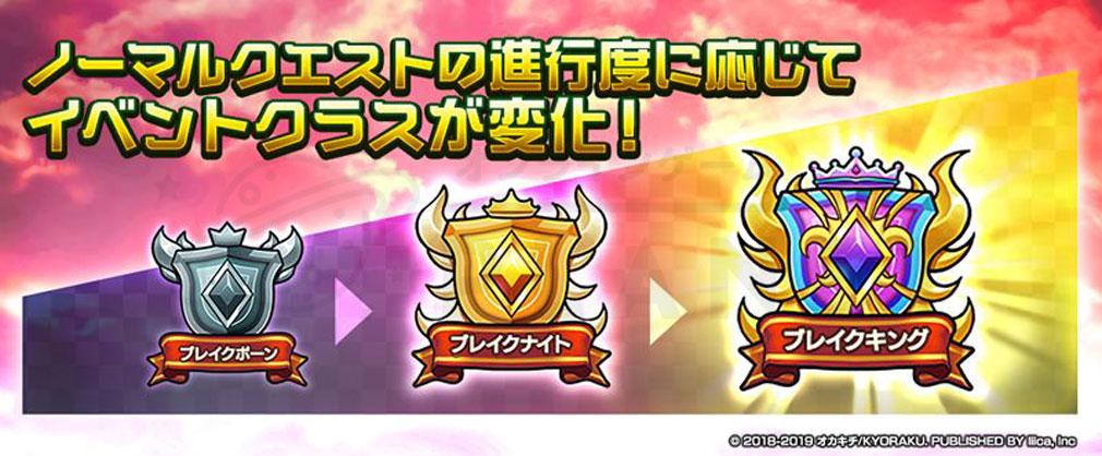 マチガイブレイカー Re Quest(リクエスト)マチブレ クラス変化紹介イメージ