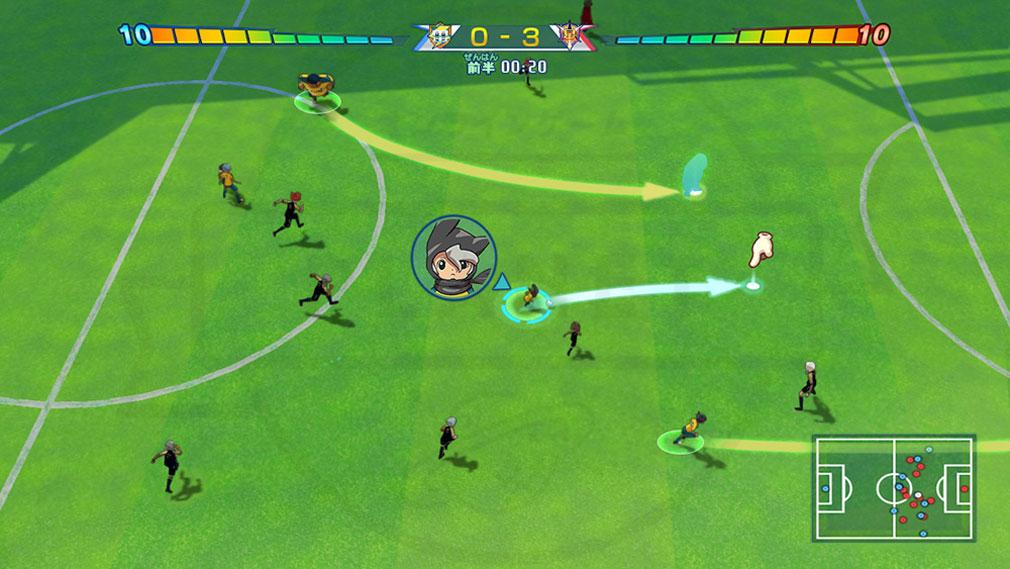 イナズマイレブン 英雄たちのグレートロード サッカーバトルスクリーンショット