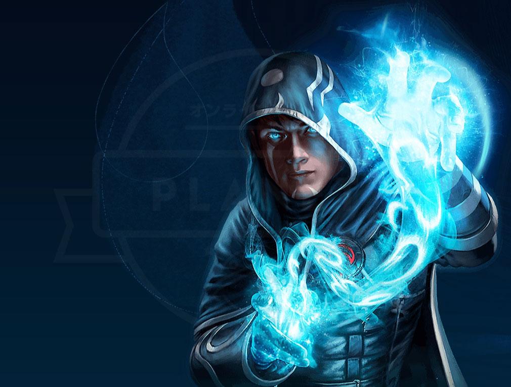 マジック マナストライク(Magic ManaStrike) マナ『青』を代表するプレインズウォーカー『ジェイス・ベレレン』紹介イメージ