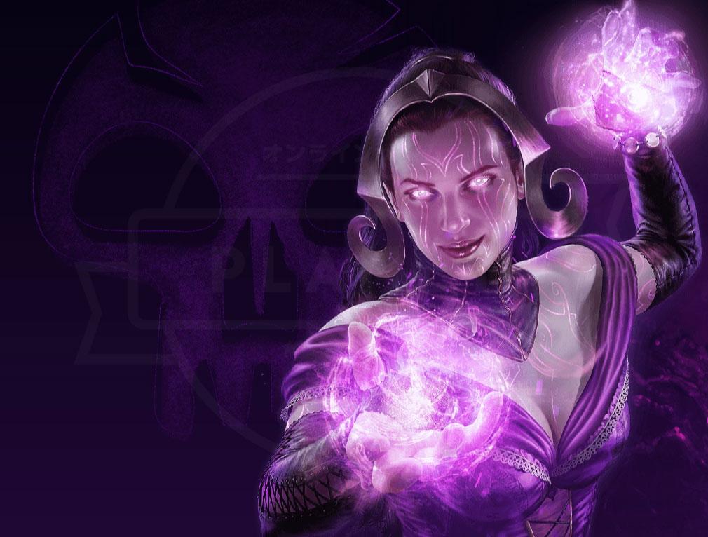 マジック マナストライク(Magic ManaStrike) マナ『黒』を代表するプレインズウォーカー『リリアナ・ヴェス』紹介イメージ