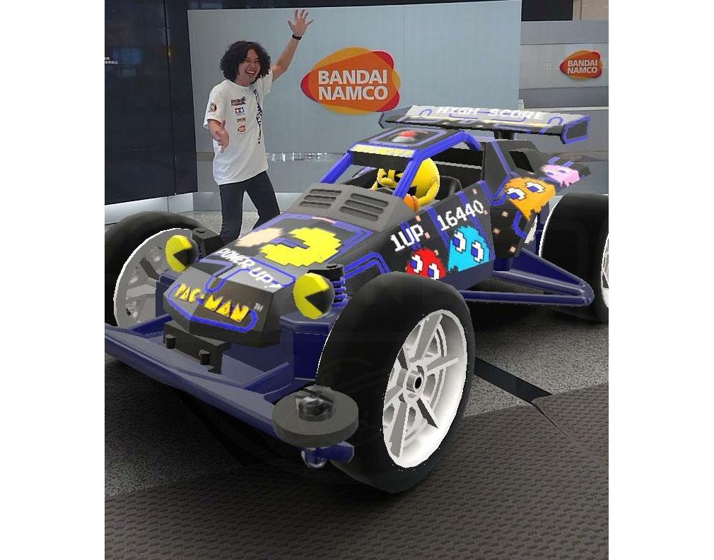 ミニ四駆 超速グランプリ(超速GP) 自分で組んだマシンを『AR』表示した紹介イメージ