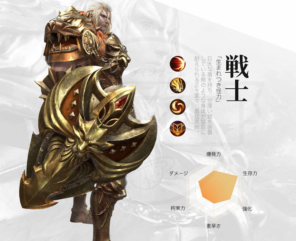 Lost Continent 終りなき冒険へ(ロスコン) 職業キャラクター『戦士』紹介イメージ