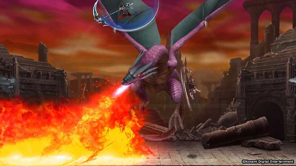 悪魔城ドラキュラ Grimoire of Souls(ドラキュラGoS) ボスバトルスクリーンショット