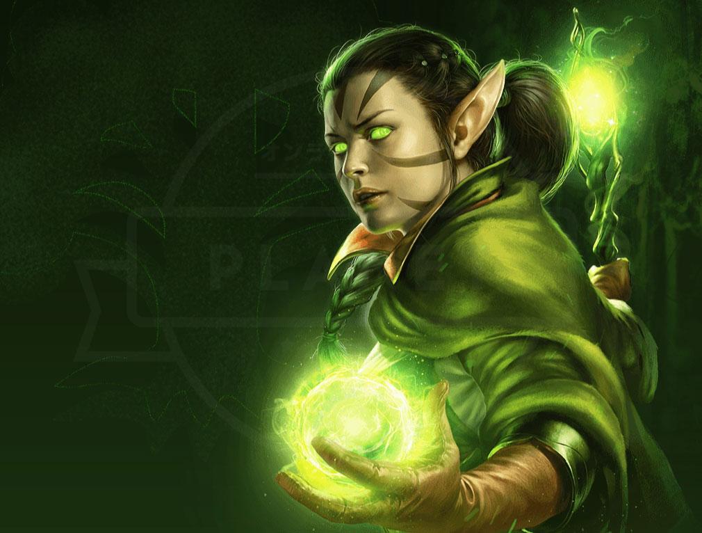 マジック マナストライク(Magic ManaStrike) マナ『緑』を代表するプレインズウォーカー『ニッサ・レヴェイン』紹介イメージ