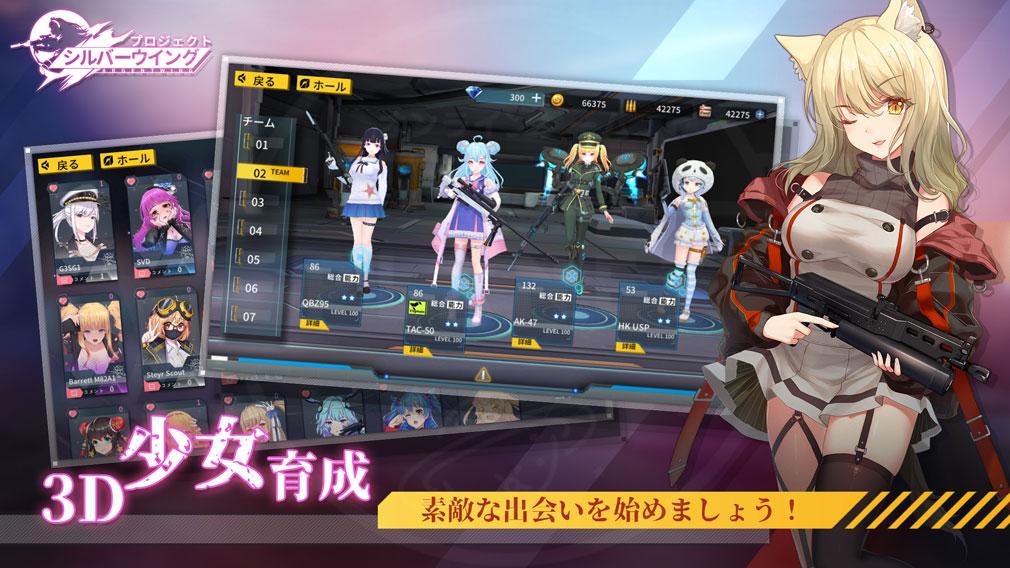 プロジェクト シルバーウイング(プロシグ) 3D少女育成紹介イメージ