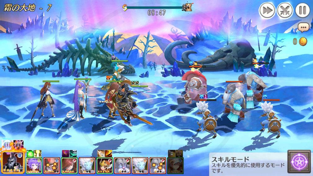 ムーンライトナイツ LunachroR Returns バトル『スキルモード』スクリーンショット