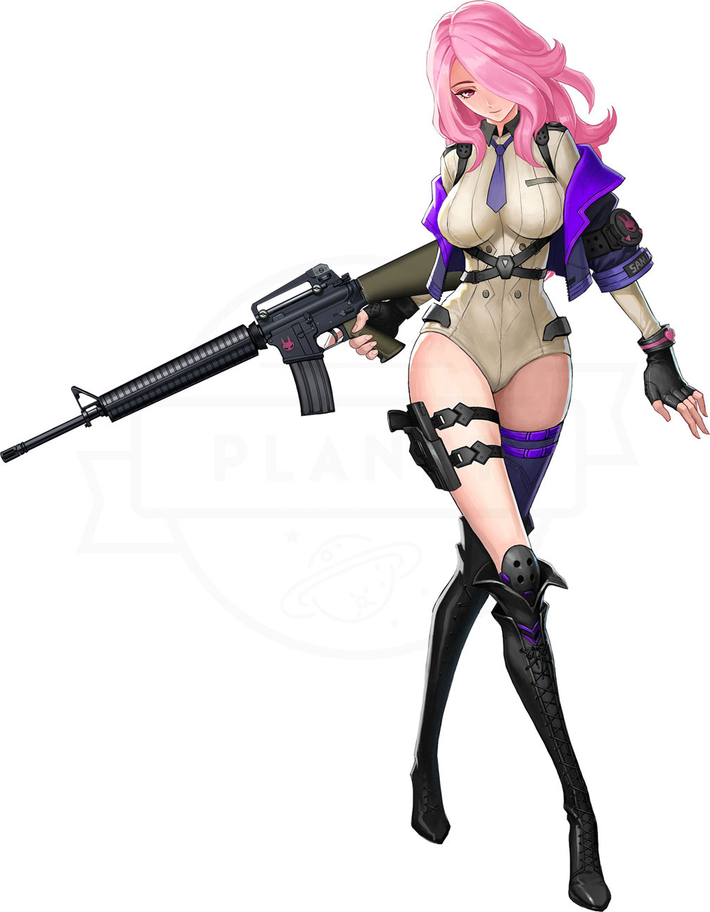 プロジェクト シルバーウイング(プロシグ) アサルトライフル(AR)『M16A4』キャラクター紹介イメージ