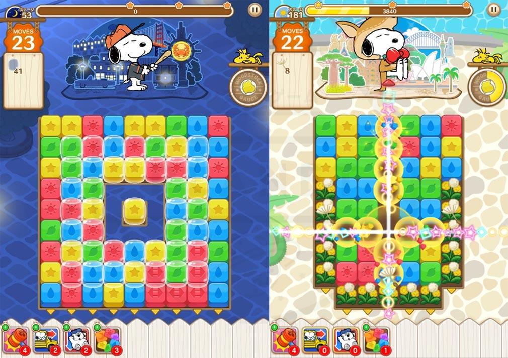 スヌーピー パズルジャーニー(タップスヌーピー) パズルゲームスクリーンショット