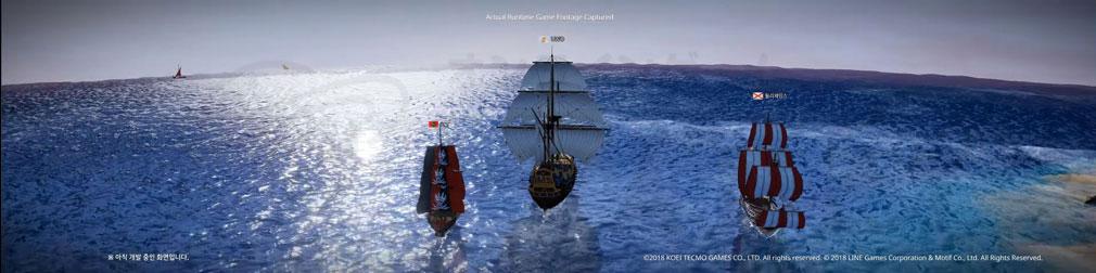 大航海時代 Origin(オリジン) 航海中のプレイ画面リメイク紹介イメージ