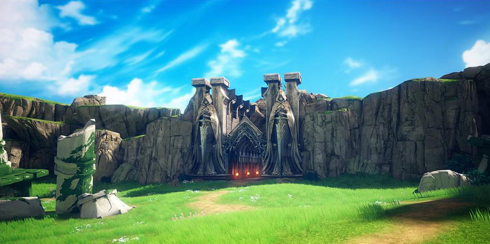 GRAN SAGA(グランサーガ) 戦争の爪跡が各所に残る女神の平原スクリーンショット