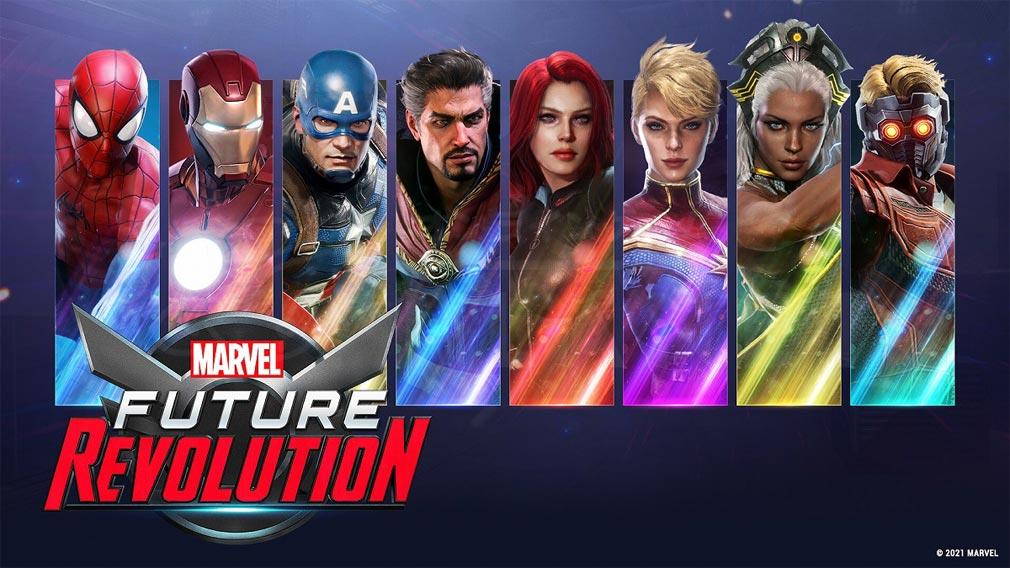 Marvel Future Revolution(マーベル・フューチャーレボリューション) 登場マーベルヒーロー紹介イメージ