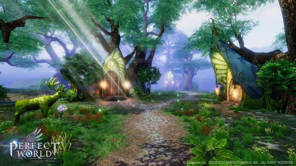 パーフェクトワールドM(完美世界M) 拠点『樹下の都』紹介イメージ