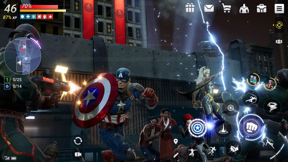Marvel Future Revolution(マーベル・フューチャーレボリューション) プレイスクリーンショット