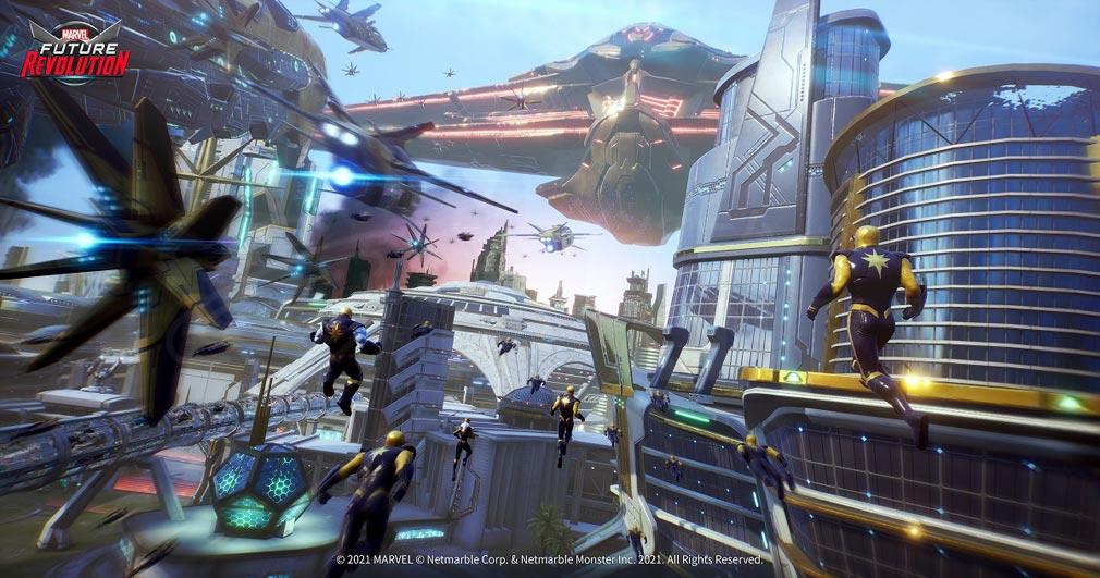 Marvel Future Revolution(マーベル・フューチャーレボリューション) マーベル世界紹介イメージ