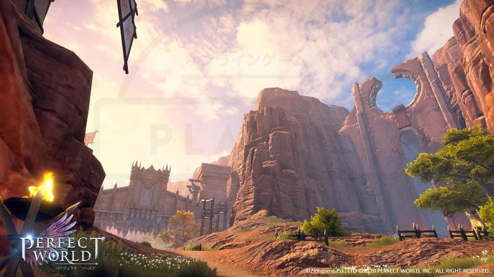 パーフェクトワールドM(完美世界M) 拠点『万獣の要城』紹介イメージ