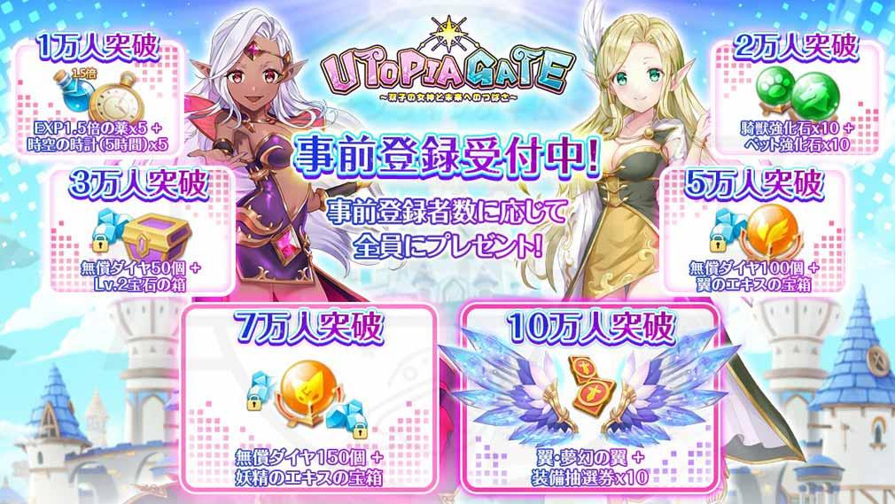 ユートピア・ゲート 双子の女神と未来へのつばさ 事前登録紹介イメージ