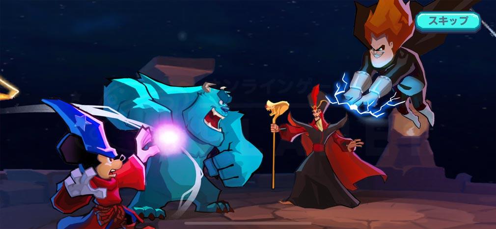ディズニー ソーサラー・アリーナ レトロな3Dイラストで再現されたディズニー&ピクサーの世界観スクリーンショット