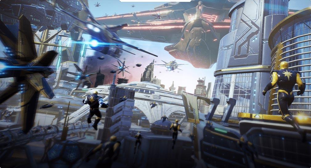 Marvel Future Revolution(マーベル・フューチャーレボリューション) エリア『惑星ザンダー』紹介イメージ
