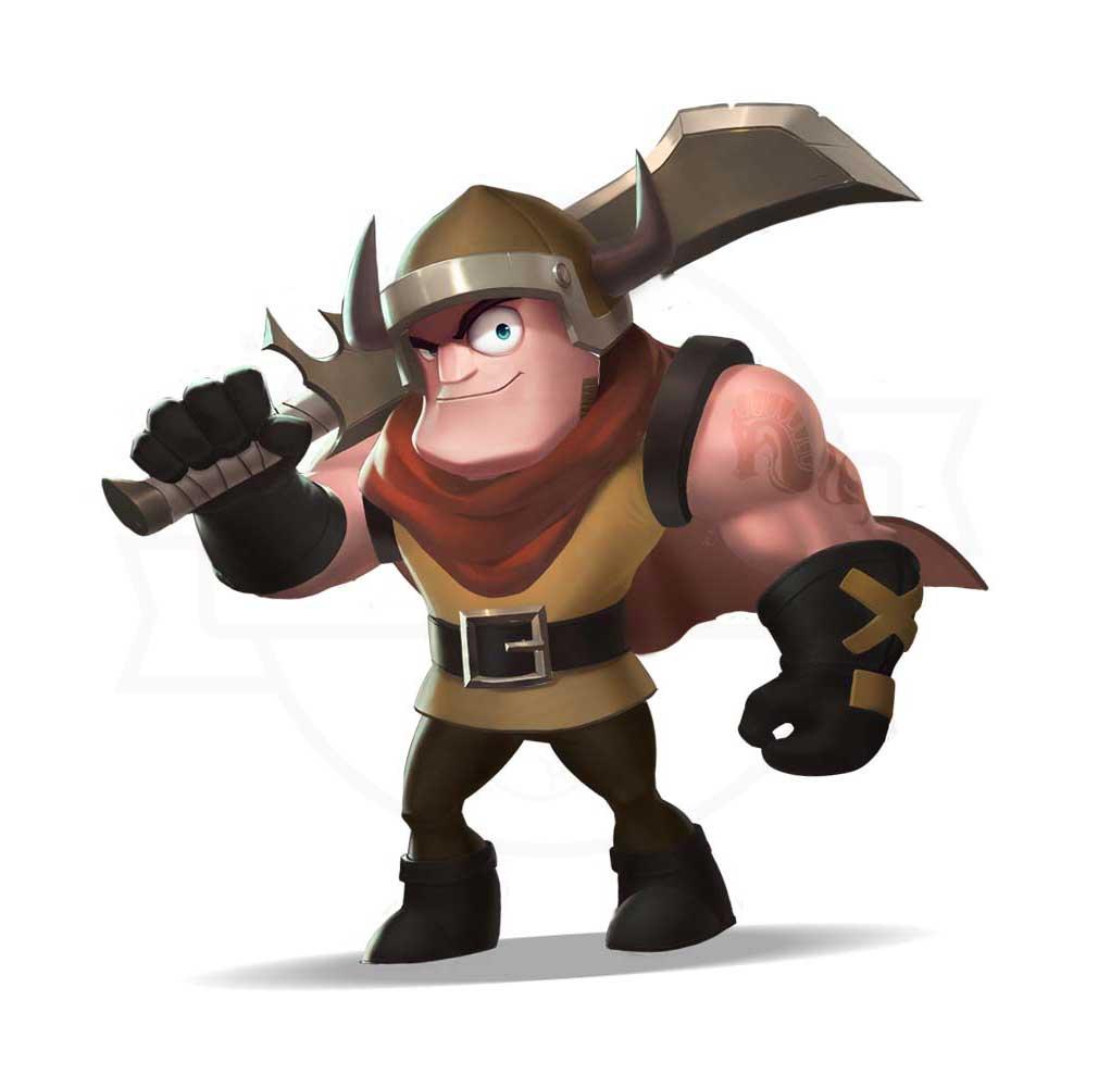 終末ヒーロー:サバイバル放置の伝説 ジョブ『戦士』紹介イメージ