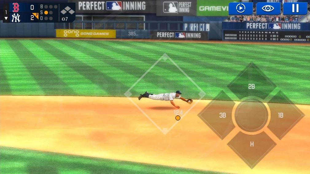MLBパーフェクトイニング2020 試合のプレイスクリーンショット