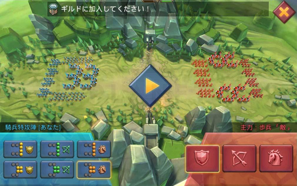 ロードモバイル(ローモバ) バトル中の戦略を考えるスクリーンショット