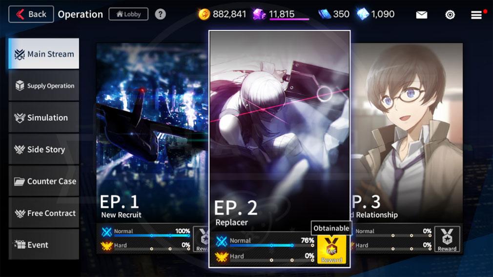 COUNTER SIDE(カウンターサイド) メインストーリースクリーンショット
