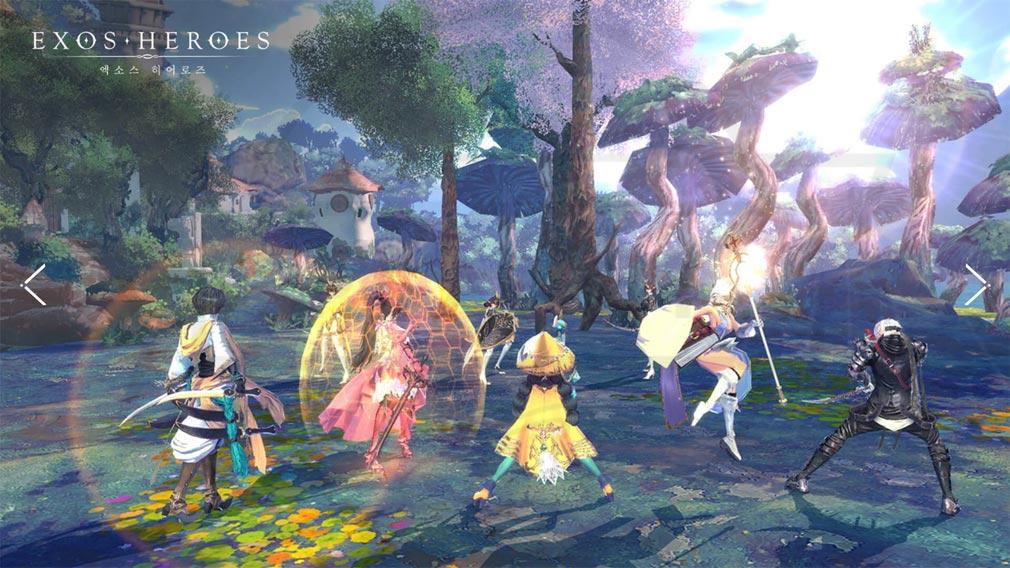 Exos Heroes (エグゾス ヒーローズ) 200体以上のキャラが登場する美麗グラフィックスなバトルスクリーンショット