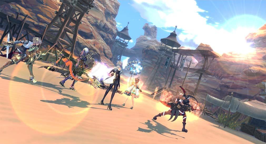 Exos Heroes (エグゾス ヒーローズ) 童話の中に入り込んだような魅力的な世界のプレイスクリーンショット