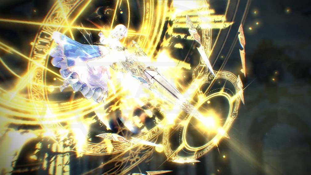 Exos Heroes (エグゾス ヒーローズ) ヒーロー達のスキル発動スクリーンショット