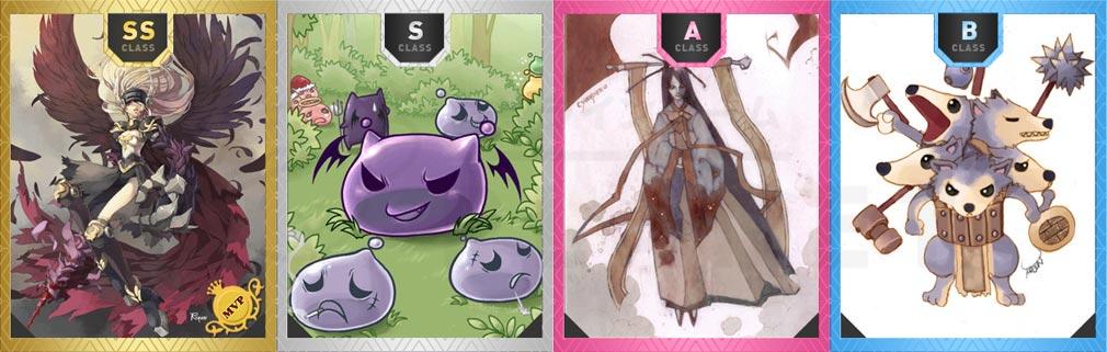 Ragnarok Tactics(ラグナロク タクティクス) B~SSランクのモンスター、キャラクターカード紹介イメージ
