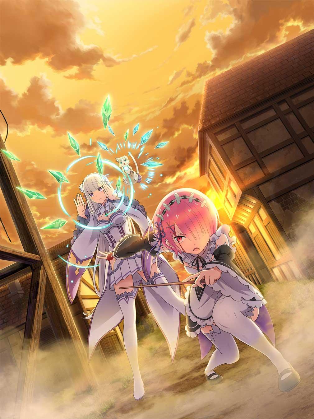 Re:ゼロから始める異世界生活 Lost in Memories(リゼロス) エミリアとラムのタッグが描かれた『if』イラスト紹介イメージ
