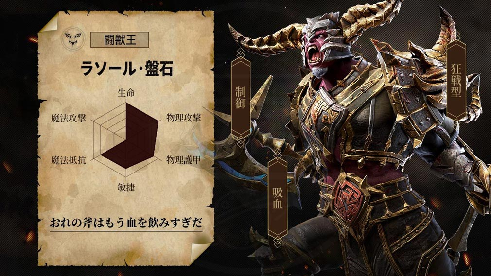 RAZIEL(ラジエル) ジョブ紹介『闘獣王』イメージ