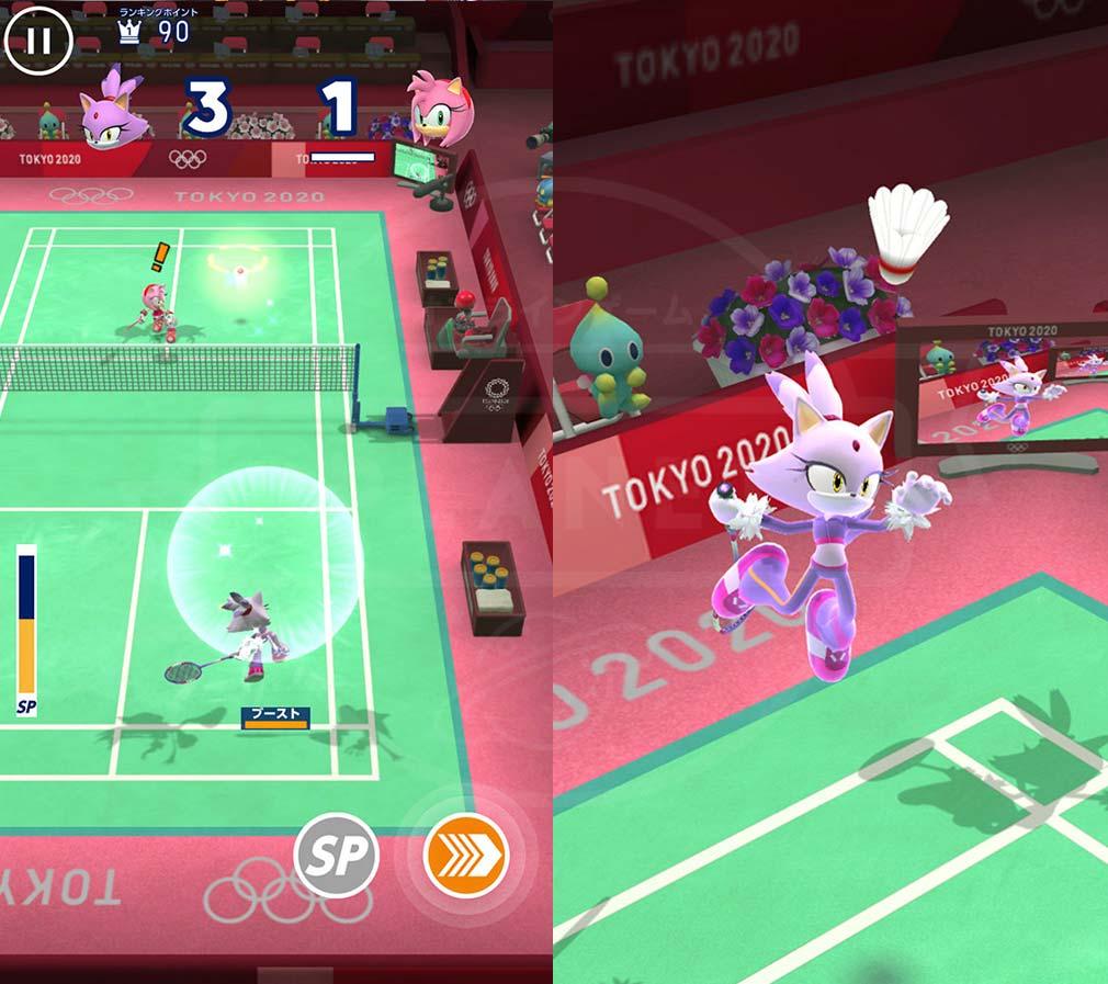 ソニック AT 東京2020オリンピック 『バドミントン』スクリーンショット