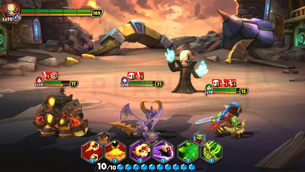 スカイランダーズ リング・オブ・ヒーロー(Skylanders Ring of Heroes) バトルスクリーンショット
