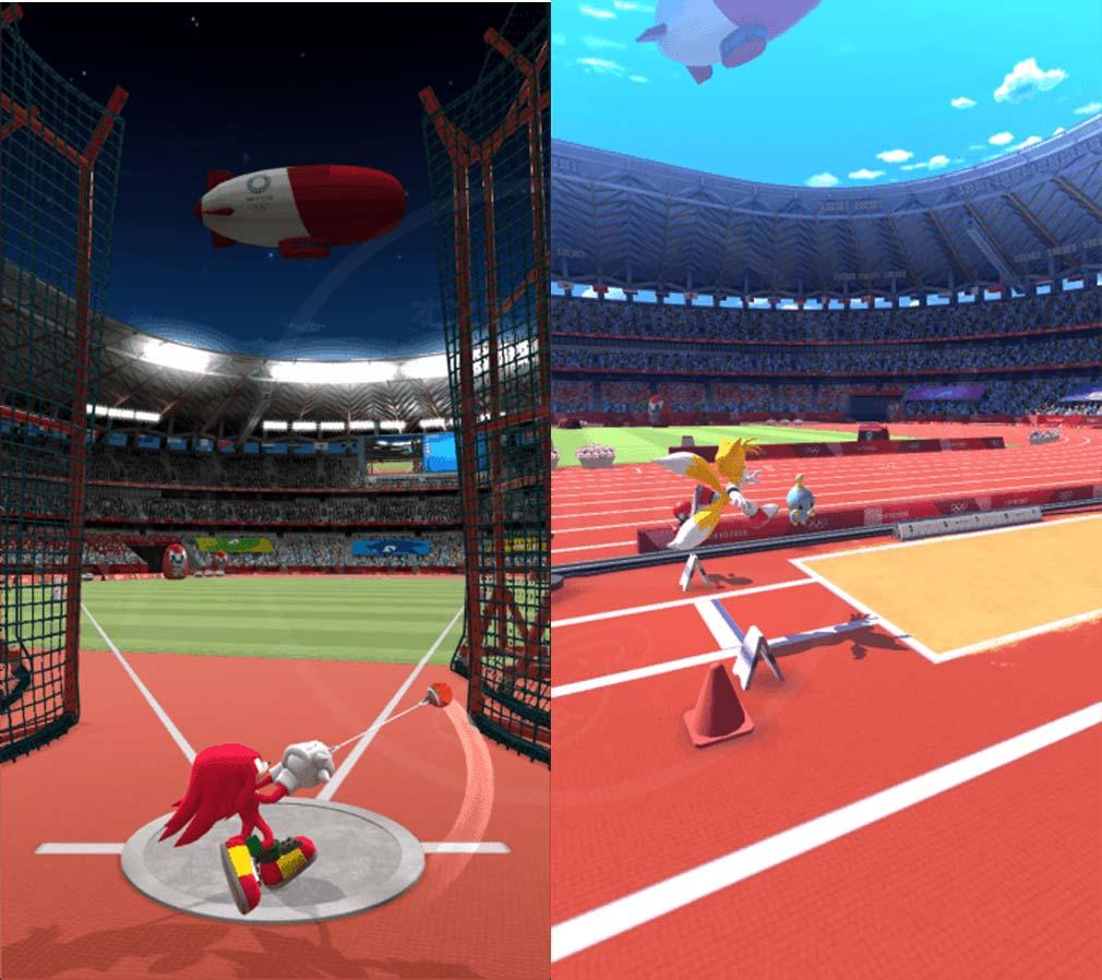 ソニック AT 東京2020オリンピック ハンマー投、走幅飛スクリーンショット