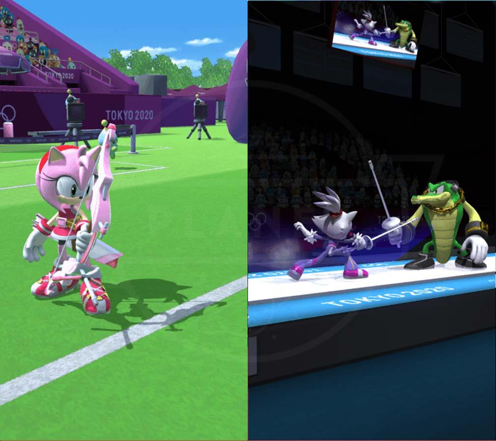 ソニック AT 東京2020オリンピック アーチェリー、フェンシングスクリーンショット