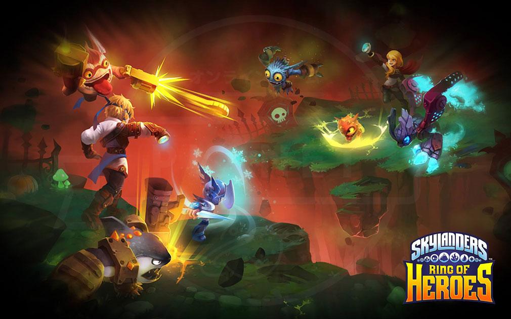 スカイランダーズ リング・オブ・ヒーロー(Skylanders Ring of Heroes) バトル紹介イメージ