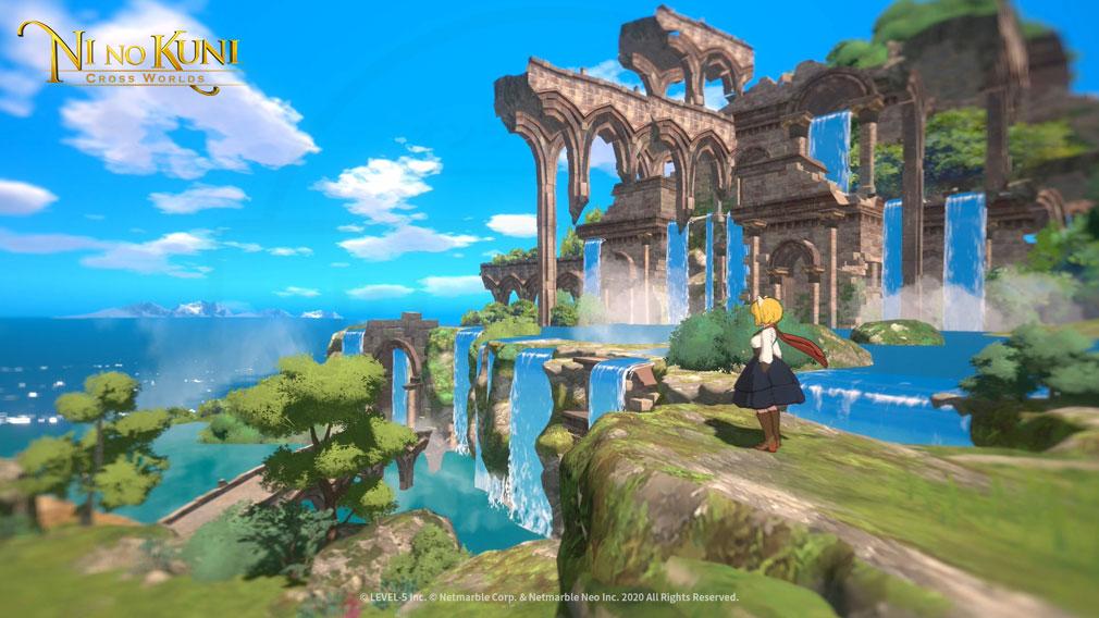 二ノ国 CROSS WORLDS 3Dグラフィックス搭載のスクリーンショット