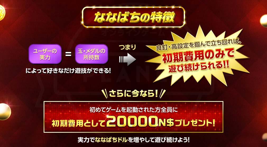 ななぱち 『20000N$』がプレゼント紹介イメージ