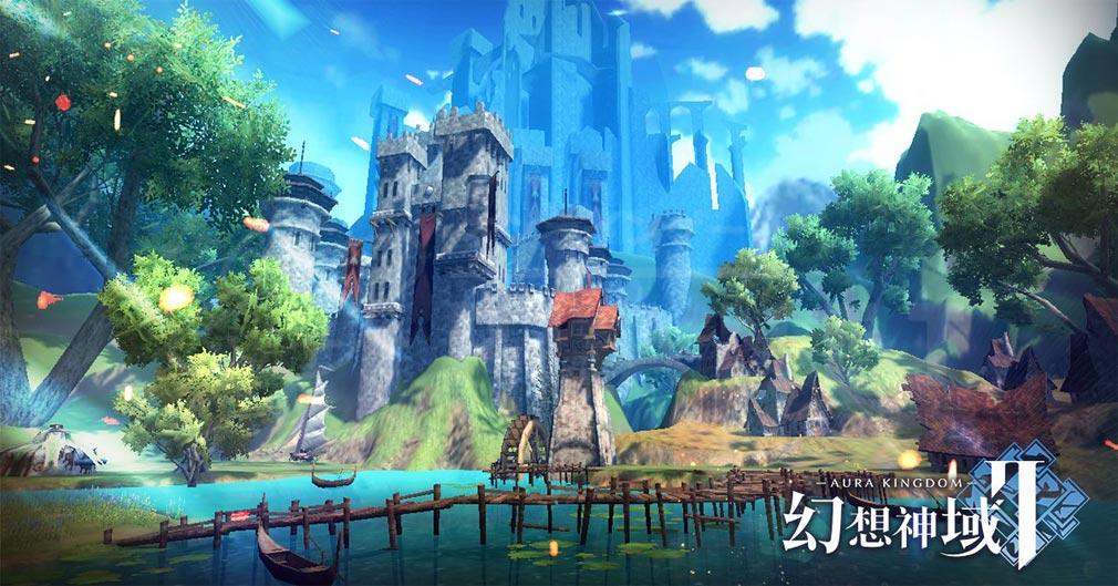 幻想神域2 -AURA KINGDOM- (幻神2) 神秘の森林と立派なお城紹介イメージ