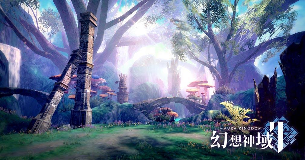 幻想神域2 -AURA KINGDOM- (幻神2) 神秘的な森林に囲まれた古代の遺跡紹介イメージ