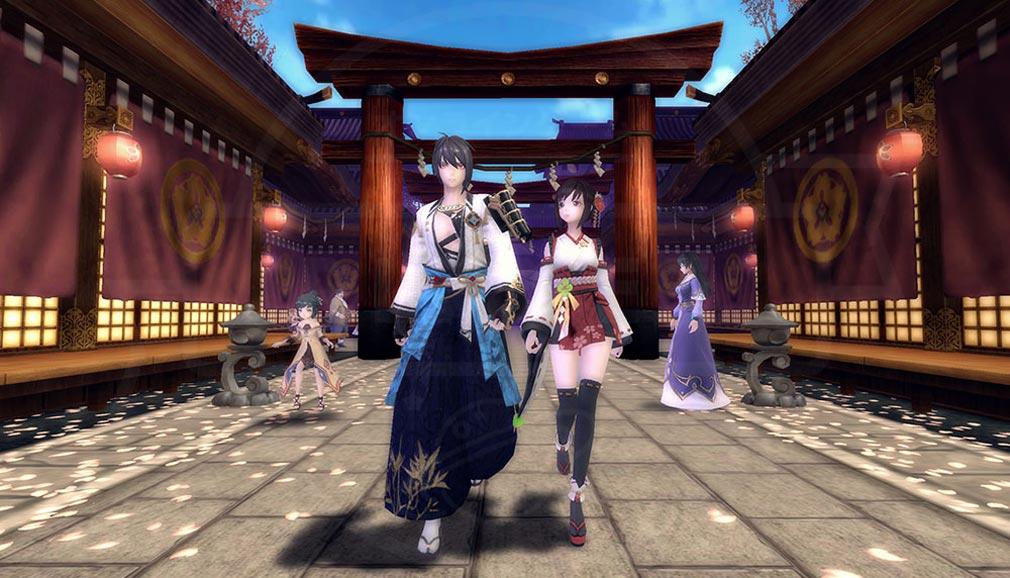 幻想神域2 -AURA KINGDOM- (幻神2) 3Dグラフィックスで表現された町のスクリーンショット