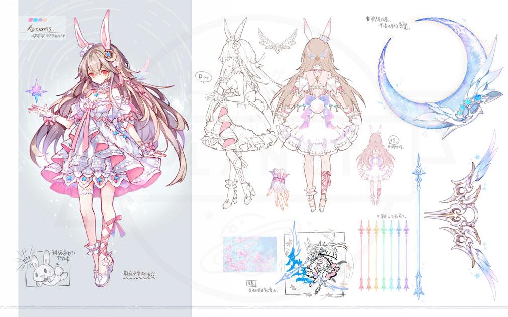 幻想神域2 -AURA KINGDOM- (幻神2) 守護者キャラクター『アルテミス』紹介イメージ