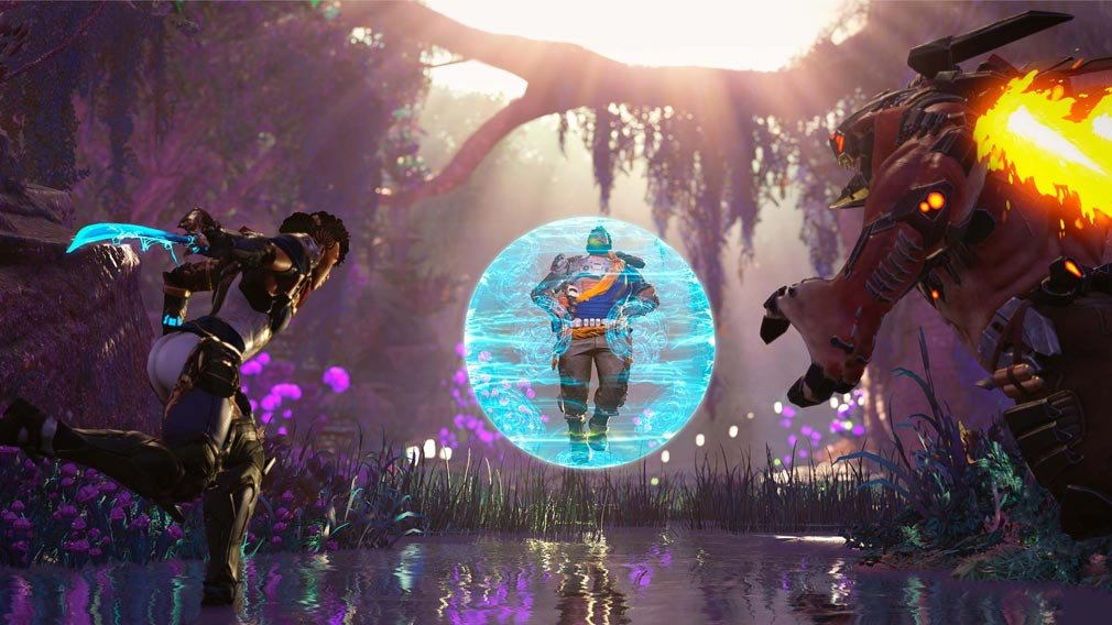 Crucible(クルーシブル) バリアを展開して対峙する『ハンター』スクリーンショット