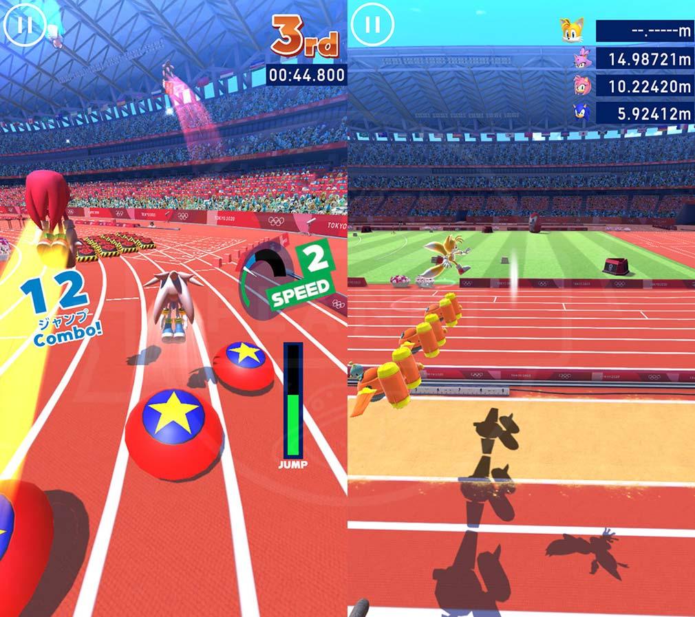 ソニック AT 東京2020オリンピック 『400mハードルEX(エクストラ)』、EX(エクストラ)競技スクリーンショット
