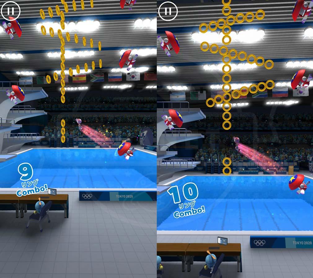 ソニック AT 東京2020オリンピック 『3m飛板飛込EX(エクストラ)』スクリーンショット