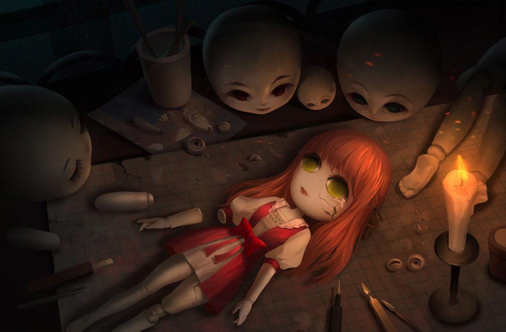 綺幻人形館 ドールナイト 泣いている製作途中のお人形紹介イメージ